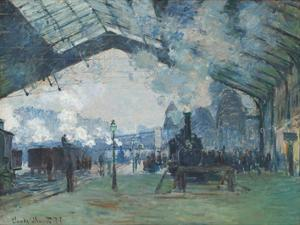 Arrival of the Normandy Train, Gare Saint-Lazare, 1877 by Claude Monet