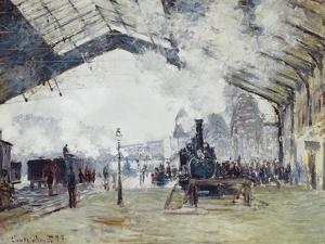 Arrival of the Normandy Train, Gare Saint-Lazare by Claude Monet