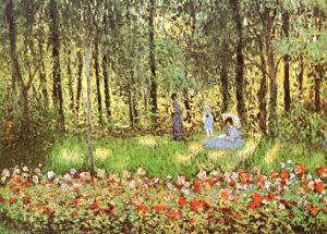 Artist's Family in the Garden at Argenteuil by Claude Monet