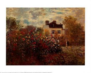 Artist's Garden Argenteuil by Claude Monet
