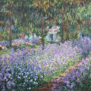 Artist's Garden at Giverny by Claude Monet