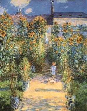 Artist's Garden at Vetheuil by Claude Monet