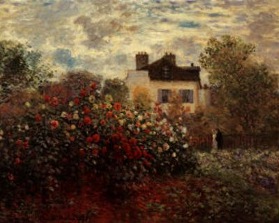Artist's Garden in Argenteuil by Claude Monet