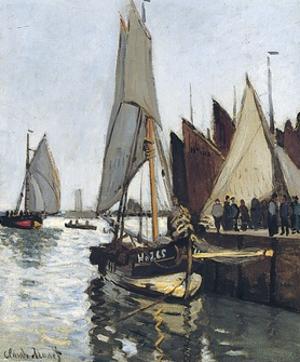 Bateaux a Honfleur (Study for Le Port De Honfleur) by Claude Monet