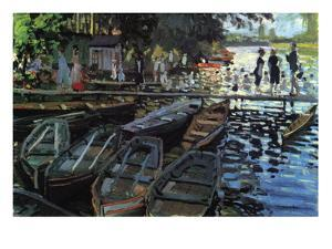 Bathers At La Grenoulli? by Claude Monet