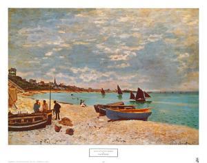 Beach at Sainte-Adresse by Claude Monet