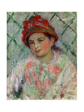 Blanche Hoschede (1865-1947), youngest daughter of Mme. Hoschede, Monet's second wife. Canvas,1880 by Claude Monet