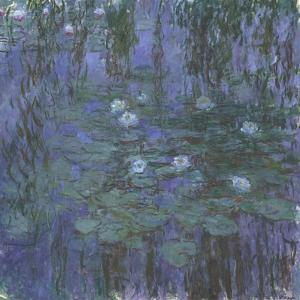 Blue Water Lilies, 1916-1919 by Claude Monet