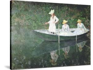 Boating At Giverny by Claude Monet