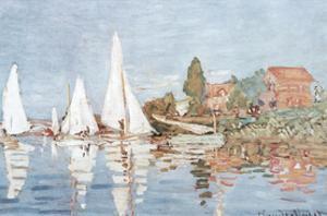 Claude Monet (Boats At Argenteuil) Art Print Poster