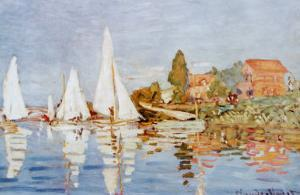 Boats at Argenteuil by Claude Monet