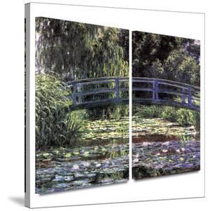 Bridge at Sea Rose Pond 2 piece gallery-wrapped canvas by Claude Monet