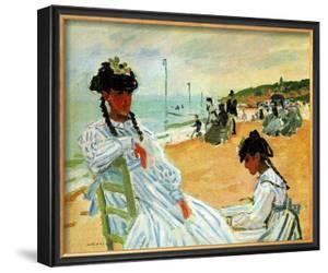 Camille at the Beach by Claude Monet