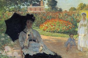 Camille in the Garden with Jean and His Nanny by Claude Monet