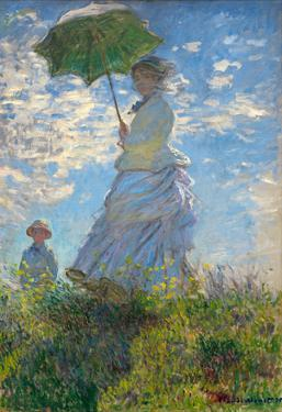 Claude Monet (Camille Monet and son Jean on the hill) Art Poster Print