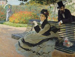 Camille Monet on a Garden Bench, 1873 by Claude Monet