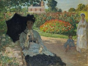 Camille Monet with Son and Nanny in the Garden, 1873 by Claude Monet