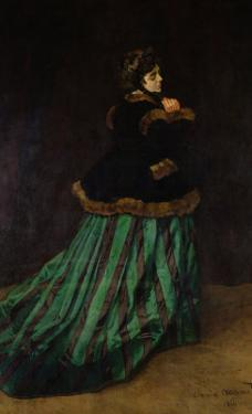 Camille, or the Woman in the Green Dress, 1866 by Claude Monet