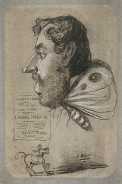 Caricature of Jules Didier by Claude Monet