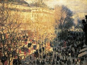 Carnaval sur le boulevard des Capucines by Claude Monet