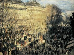 Carnival on the Boulevard Des Capucines by Claude Monet