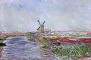Champ De Tulips En Holl by Claude Monet