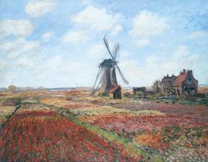 Champs de Tulipes by Claude Monet