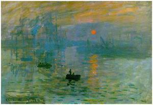 Claude Monet Impression Sunrise 1872 Art Poster Print by Claude Monet