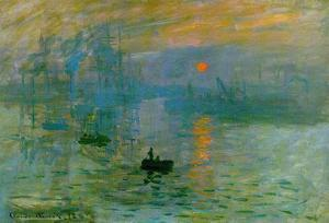 Claude Monet Impression Sunrise 1872 Art Poster Print by Claude Monet