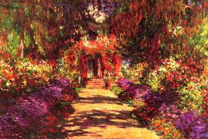 Claude Monet Path in Monet's Garden in Giverny by Claude Monet