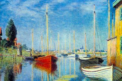 Claude Monet Pleasure Boats at Argenteuil Plastic Sign by Claude Monet
