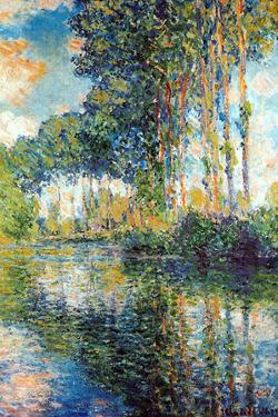 Claude Monet Poplars on the Epte Plastic Sign by Claude Monet