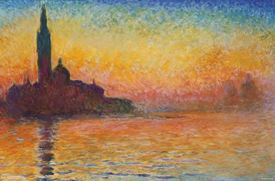 Claude Monet- San Giorgio Maggiore At Dusk by Claude Monet