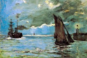 Claude Monet Seascape by Claude Monet