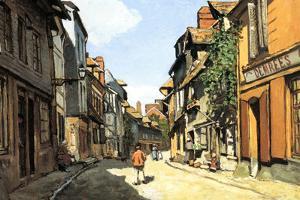 Claude Monet Street of Bavolle by Claude Monet