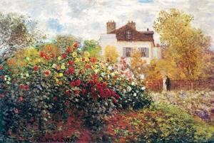 Claude Monet The Artist's Garden Art Print Poster by Claude Monet