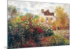 Claude Monet The Artist's Garden Art Print Poster by Claude Monet