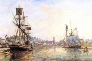 Claude Monet - The Honfleur Port 2 - by Claude Monet