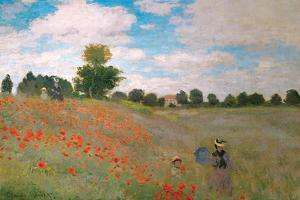 Claude Monet - The Poppy Field by Claude Monet