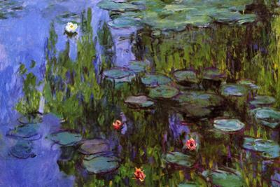 Claude Monet Water-Lilies Plastic Sign by Claude Monet