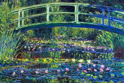 Claude Monet Water Lily Pond 2 Plastic Sign by Claude Monet