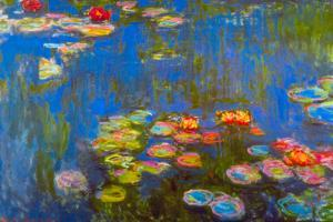 Claude Monet Waterlillies Plastic Sign by Claude Monet