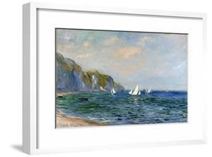 Cliffs and Sailboats at Pourville by Claude Monet