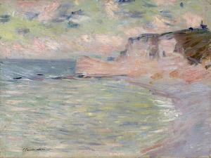 Cliffs and the Porte D'Amont, Morning Effect, 1885 by Claude Monet