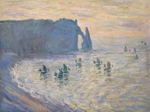 Cliffs at Ètretat, 1885-1886 by Claude Monet