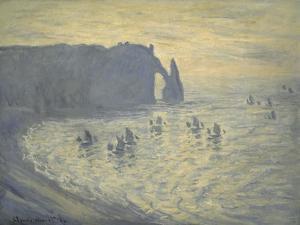 Cliffs at Etretat by Claude Monet