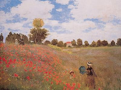 Corn Poppies (Les Coquelicots), 1873 by Claude Monet