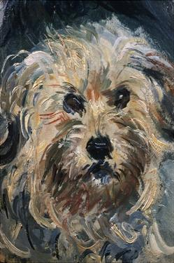 Detail of Yorkshire Terrier from Eugenie Graff (Madame Paul) by Claude Monet