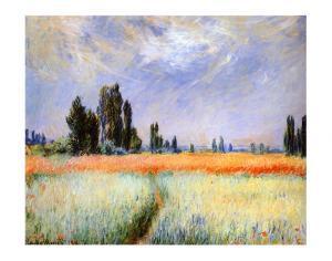 Distant Poplars by Claude Monet
