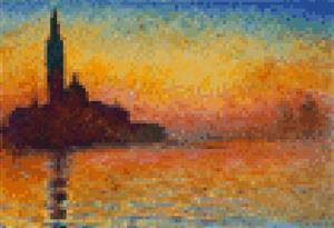 Claude Monet Dusk 8 Bit